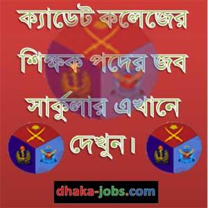 Cadet College Job Circular 2016
