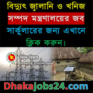 Power Energy and Mineral Resources Ministry Job Circular 2017