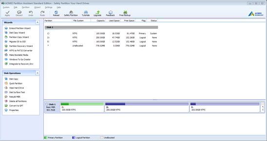 Magically Partition Hard Drives with AOMEI Partition Assistant Standard 6.3