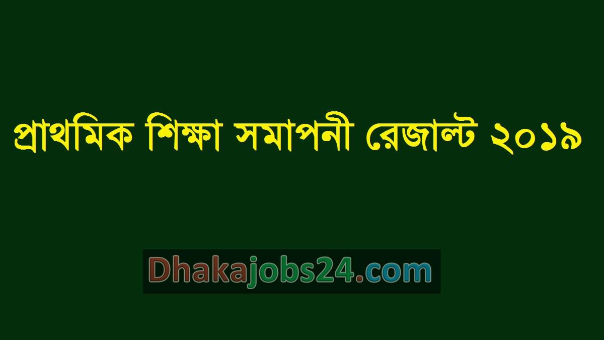 PSC Result dpe.gov.bd 2019
