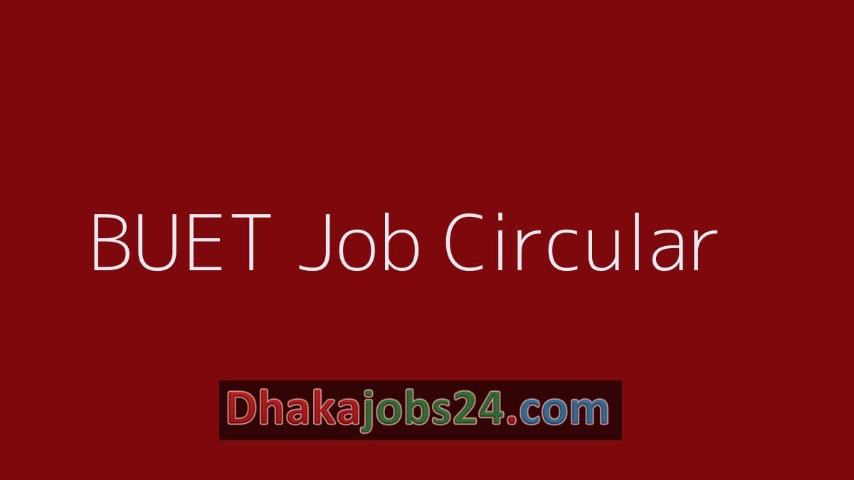 BUET Job Circular 2019
