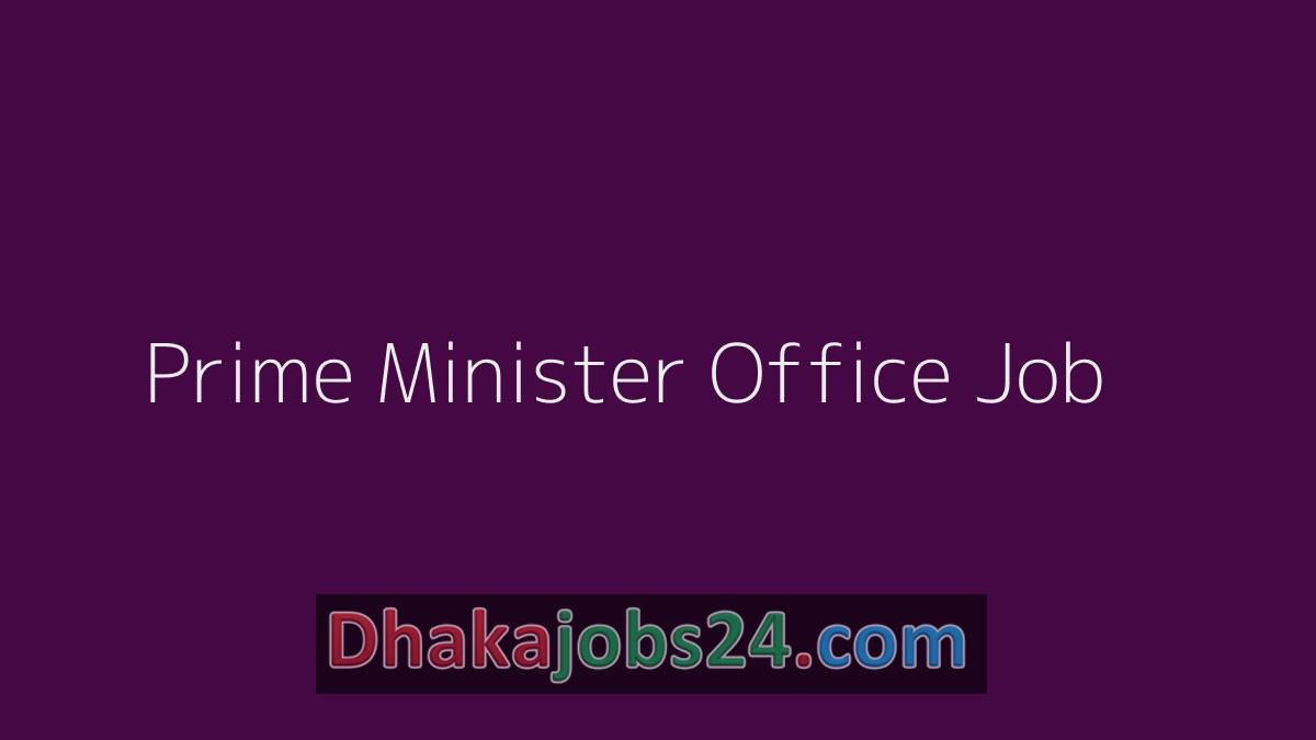 Prime Minister Office Job 2019